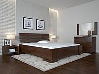 Кровать деревянная Домино без подъёмного механизма из натурального дерева полуторная, фото 1