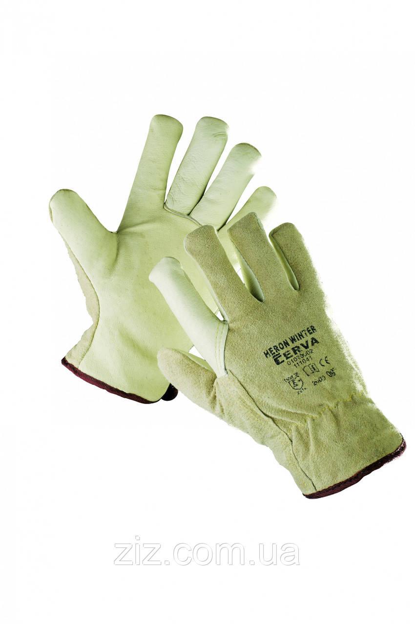 ЧАПЛЯ WINTER Утеплені шкіряні рукавички