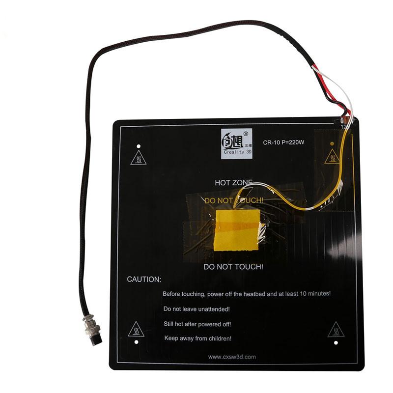 Creality 3D® Aluminium 12V MK3 300 * 300 * 3 мм плата для термозащиты с установленным кабелем для 3D-принтера 1TopShop