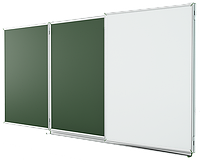 Школьная доска магнитная меловая 4х1 м Эрудит