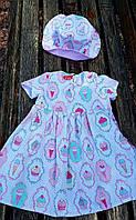 Детское платье пироженка розовые