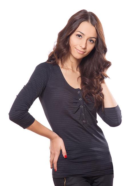 Чорна жіноча кофточка (розміри S-2XL)