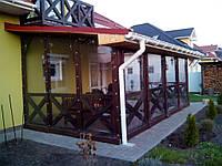 Мягкие окна ПВХ для веранды загородного дома