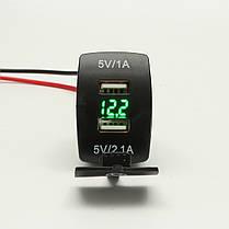 12V Dual USB Power Charger Разъем Вт / LED Вольтметр Напряжение для мотоцикл Авто Лодка, фото 3