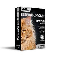Капли от блох и клещей на холку для кошек Unicum premium (Уникум премиум) 4 - 8 кг
