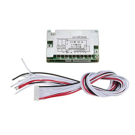 48V BMS Balance для 13S 30A Литий-ионный литий Батарея Защитная плата с кабелем, фото 2