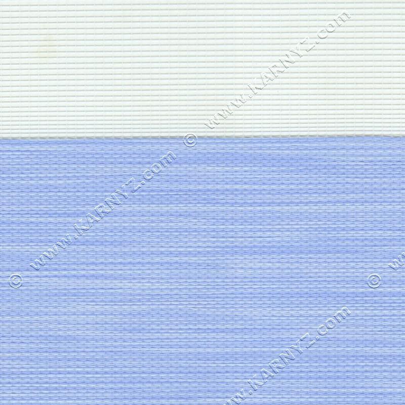 Рулонные шторы День-Ночь Роскошь B-119 голубой