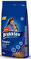 Brekkies Cat COMPLET -  корм для взрослых кошек на основе мяса, рыбы, овощей 15 кг
