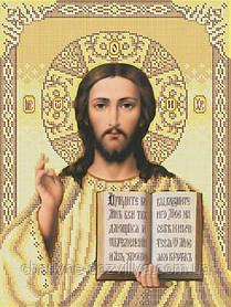 """Схема для вышивки бисером икона """"Иисус Христос"""" (Золотая)"""