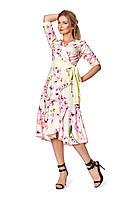 Женское платье №1062 (желтый)