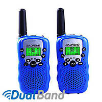 Комплект из двух раций Baofeng BF-T3 + батарейки Duracell синий