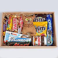 """Сладкий подарочный набор """"Кот сладкоежка"""" Оригинальный подарок для ребёнка, подруги, друзей. Набор сладостей."""