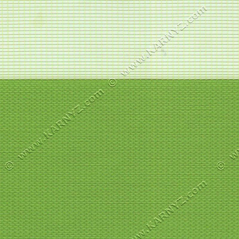 Рулонні штори День-Ніч Розкіш B-116 зелений лайм