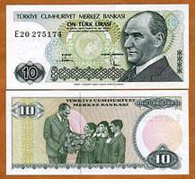 Турция / Turkey 10 lira 1970(1982) Pick 193 UNC