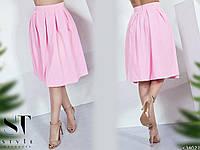 Женская стильная юбка ниже колена миди