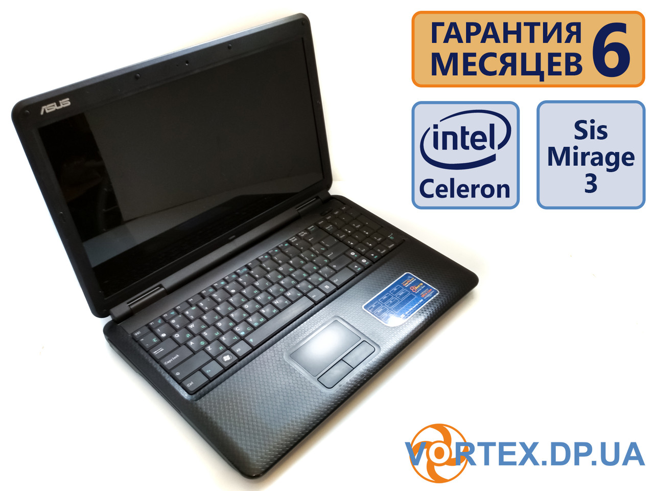 Ноутбук Asus K50 15.6 (1366x768) / Intel Celeron M 530 (2x1.73GHz) / R