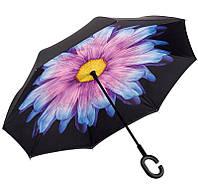 Зонт обратного сложения Rainscence Антиветер №14 Цветок Сиреневый (14ZR201814)