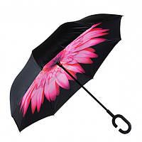 Зонт обратного сложения Rainscence Антиветер №13 Цветок Розовый (13ZR201813)