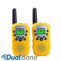 Комплект из двух раций Baofeng BF-T3 + батарейки Sony желтый