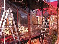 Утепление балкона прозрачными тент шторами пвх