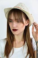 Шляпа летняя шляпка челентанка Дилос молочная