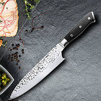 MYVITK6MK7CRHНожизнержавеющейстали 8 '' Мясорубка Суши-нож Pakka Wood Handle Бритва Sharp Blade