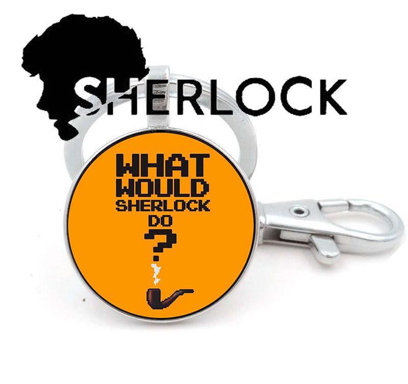 Брелок Что бы сделал Шерлок? Sherlock Holmes
