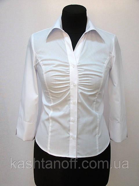 Блуза 3/4 рукав со сборкой на груди