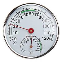 Нержавеющая сталь Термометр / Гигрометр для Сауна Комнатный температурный датчик