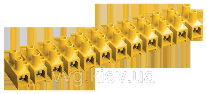 Зажим винтовой ЗВИ-10 н/г 2,5-6мм2 12пар желтый IEK