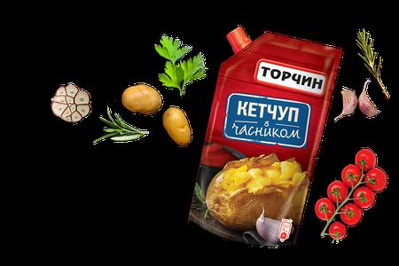Кетчуп Торчин с чесноком 300г