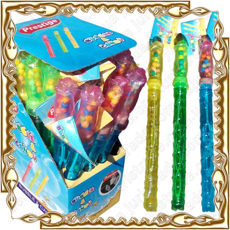 Мыльные пузыри Шпага + Драже Bubble Candy 24 шт./уп.