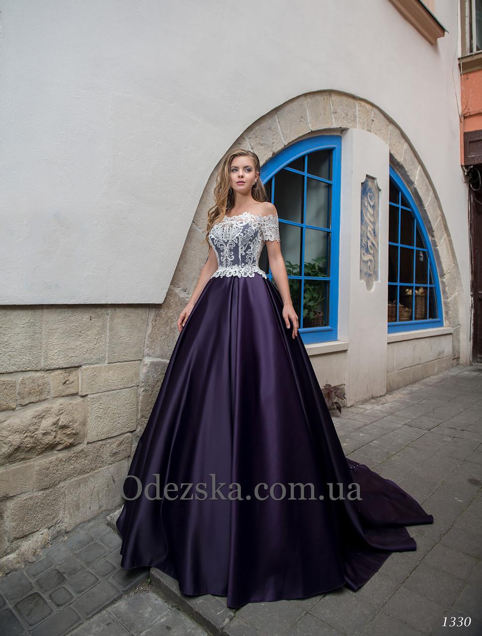 8a5e59ffaf95345 Платье с пышной атласной юбкой со шлейфом - Интернет-магазин ОДЁЖКА прямой  поставщик в Одессе
