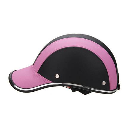 Черный и Розовый Anti-UV мотоцикл Велосипед Scooter Half Helmet Бейсболка Hard Шапка 1TopShop, фото 2