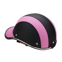 Черный и Розовый Anti-UV мотоцикл Велосипед Scooter Half Helmet Бейсболка Hard Шапка 1TopShop, фото 3