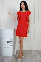 Оригинальное короткое летнее платье с открытой спинкой