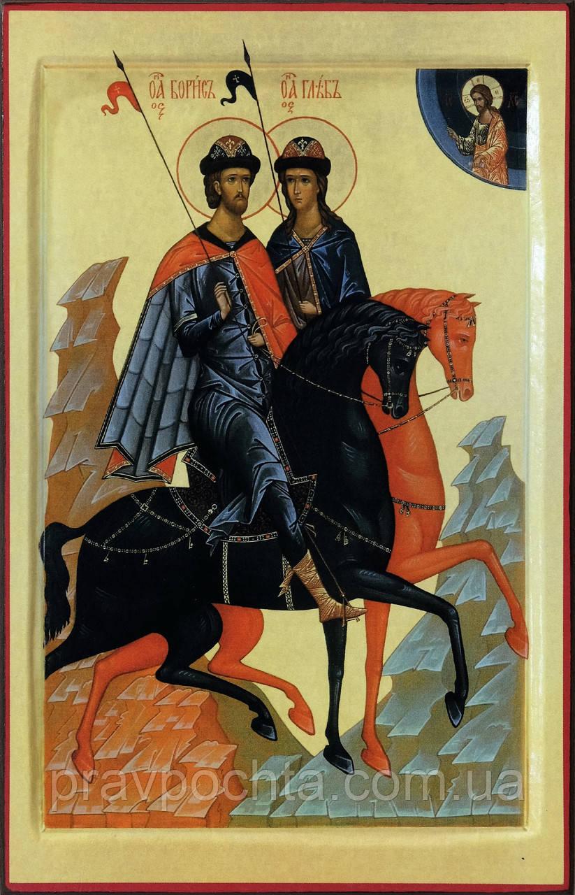 """Икона """"Святые благоверные князья Борис и Глеб"""" (аналойный размер)"""