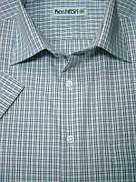 Классическая рубашка Каштан с коротким рукавом