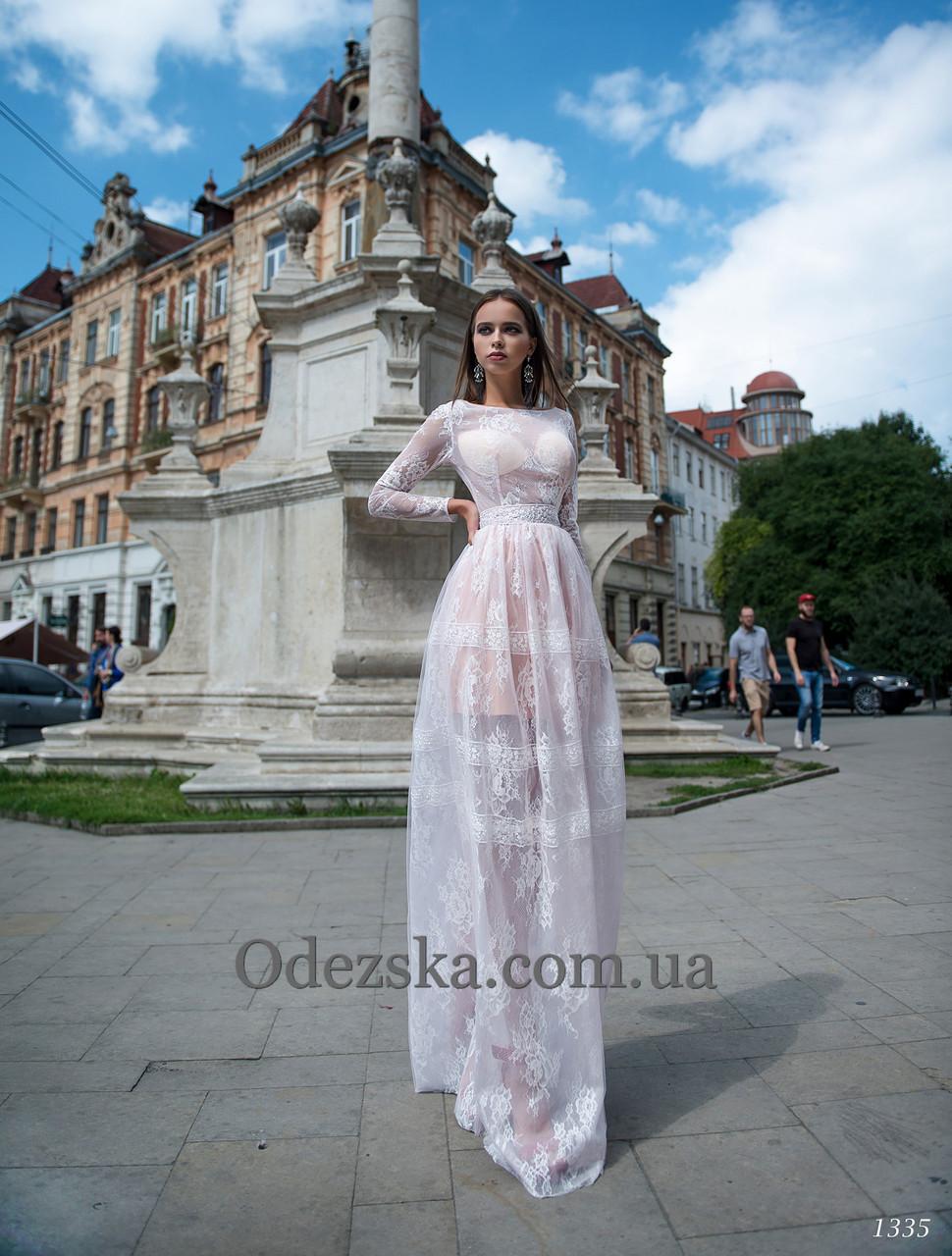 d23b3b811fa Нежное прозрачное платье с длинным рукавом - Интернет-магазин ОДЁЖКА прямой  поставщик в Одессе