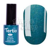 Гель-лак Tertio №153 (темный зеленый, микроблеск), 10 мл