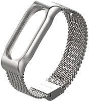 Ремешок UWatch Metallic Strap Fleet Chain For Mi Band 2 Silver