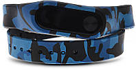 Ремешок UWatch Replaceable Long Winding Circle Camouflage Style Wristband for MiBand 2 Camo Blue