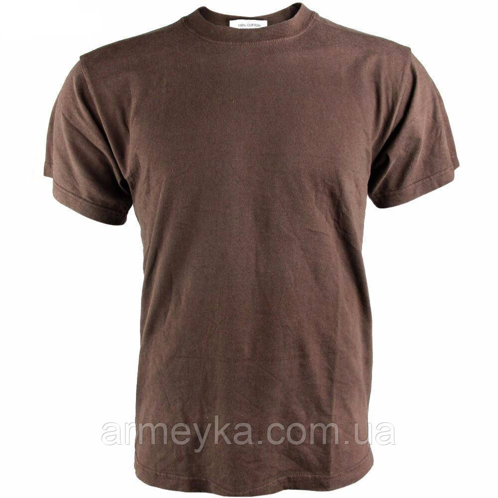 Армейская футболка, cotton, коричневая. НОВАЯ. Великобритания, оригинал.