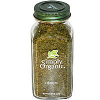 Simply Organic, Кинза, 0.78 унций (22 г)
