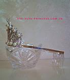 Корона под серебро с жемчугом, диадема, тиара, высота 8 см., фото 2
