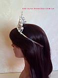 Корона под серебро с жемчугом, диадема, тиара, высота 8 см., фото 4