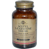 Ацетил -L карнитин, Acetyl L-Carnitine, Solgar, 1000 мг, 30 таблеток.