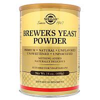 Пивные дрожжи, Brewer's Yeast, Solgar, 400 гр.