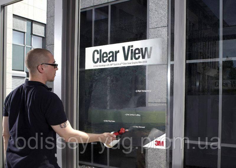 Прозрачная пленка 3М Scotchcal™ Clear View 8150. Для рекламы и дизайна, фото 1