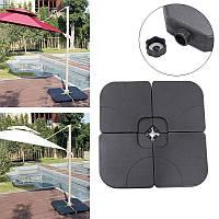 4штUmbrellaBaseПластиковыйподдондля палаток Бак для воды для ванн для всех На открытом воздухе Зонты Флагштоки